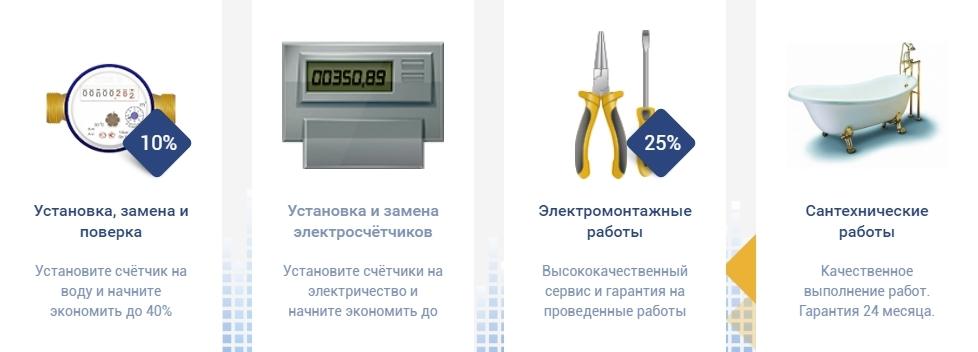 Перечень услуг МосОблЕИРЦ по обслуживанию и ремонту